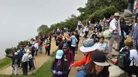 Tourists as thick as the fog. Yuck.