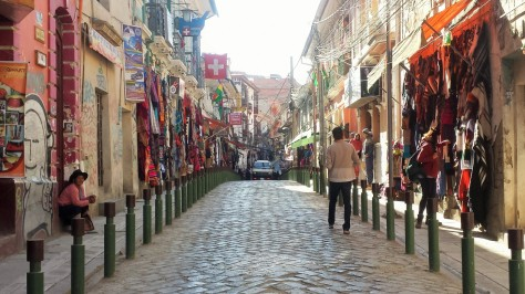 This photo is irrelevant to the story but is a pretty picture of a La Paz street nonetheless.