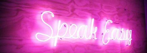 Neon is always good. Pub, funeral home or speakeasy cafe