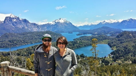 This post isn't really about travelling, so I'm putting in pretty photos of us in Patagonia (which is where we are right now).