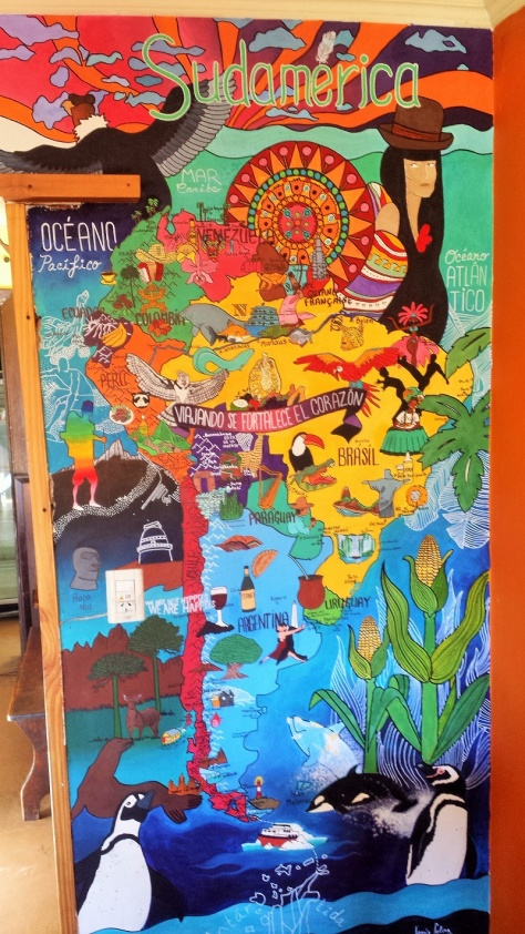 A ripping mural done by one of the super awesome volunteers