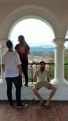 At the mirador with Mary and Kosta