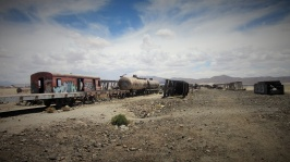 It's where all of the disused trains go to rust away and be climbed on by gringos.